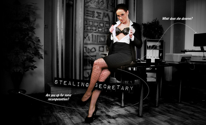 One cannot simply trust his secretary... this buck-hungry girl might even steal your money right in your office! But if so, she deserves some punishment!  Are you going to leave this unrevenged, or are you up for some recompensation?