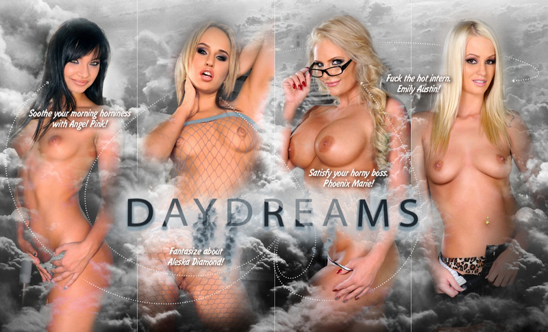 What could give an always horny guy better startup than daydreaming? Well, beside porn movies. Daydreams about hot, cock-hungry and incredibly attractive women. At home, at work, anywhere, anytime. Fortunately if the strict but nymphomaniac boss is the one & only MILF, Phoenix Marie, it will be easy to daydream all day...!