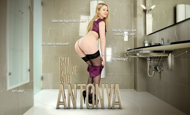 It's not hard to fall in love with Antonya, especially when she teases you, the lucky boyfriend... This busty blonde with full sexy lips, flirtatious eyes and perfectly formed, perky breasts is back to get you as hot as she's feeling with some anal masturbation in the shower with your favorite sex toys!