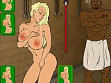 A Cheerleader and the coach - Hardcore flash game:Very sexy cheerleader washes in the boys shower, the coach sees her and fuckes the girl with the bla