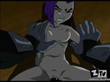 Teen Titans - Sladed - Raven is fucked hard this time
