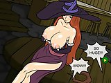 Big Tits Witch Fucking - Tit fuck flash game:Once a sexy little witch came to the Road Side Tavern, she wants to pay for her drinks by gang banging. S
