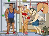 Train Voyeur - Porn stories flash game:Train this guy to watch upskirt sexy blonde, but don't get caught by her bully boyfriend!