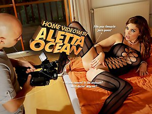Interactive porn game with Aletta Ocean