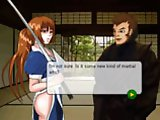 Kasumi training - Beautiful Kasumi come to the ninja school. Help the girl to warm up the body before training and persuade to get her a sexy massage.